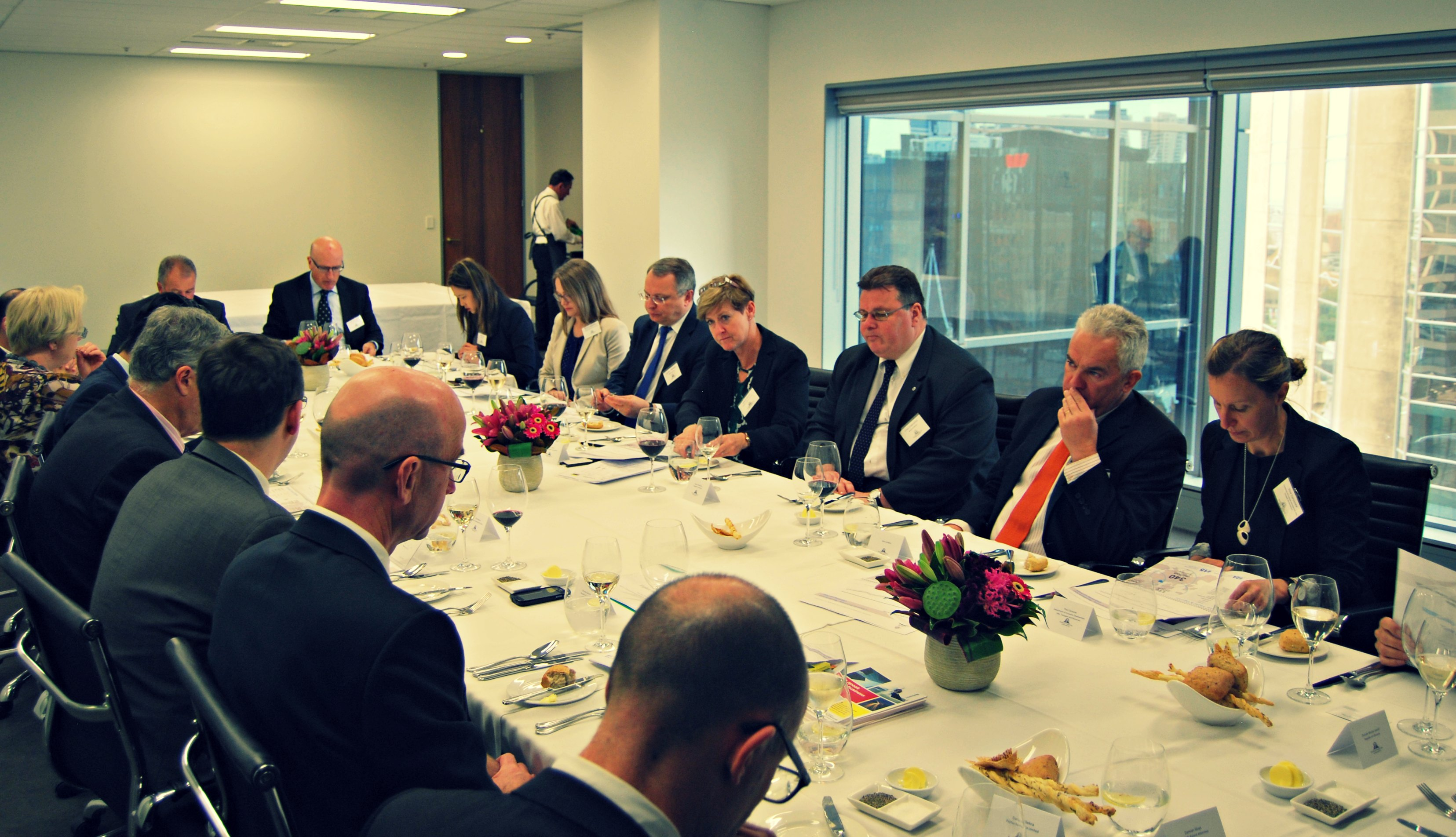 Lithuanian delegation and ALBC representatives at the networking lunch